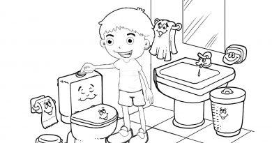 tuvalet kuralları boyama sayfası