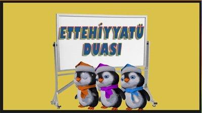 Ettehiyyatü duası, çocuklar için dualar. namaz duaları ettehiyyatü, penguen duaları