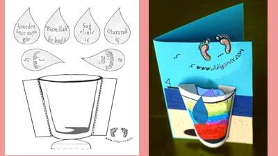 su içme etkinliği, su adabı, su içme adabı, okul öncesi,