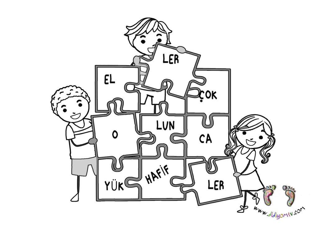 yardımlaşma boyama sayfası, değerler eğitimi, okul öncesi, yap boz boyama
