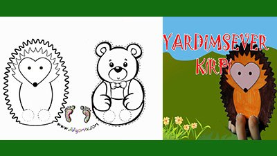 KİRPİ İLE AYI yardımsever kirpi, ayı ile kirp