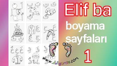 Elif ba boyama sayfaları