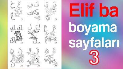 Elif Ba Boyama 3