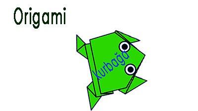 Origami Kurbağa Yapımı – Origami Kurbağa ÇOCUKLARA ORİGAMİ