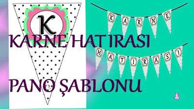 Karne Hatırası Pano Şablonu - Karne hatırası yazısı şablonu, karne günü