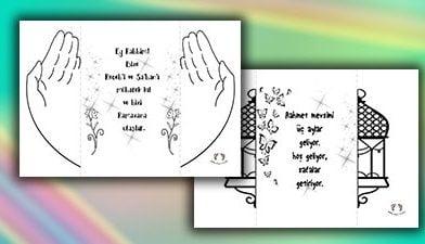 Üç Aylar Duası Boyama Sayfası – Recep, Şaban, Ramazan