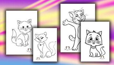 Kedi Boyama Sayfası – Okul Öncesi Kedi Boyaması
