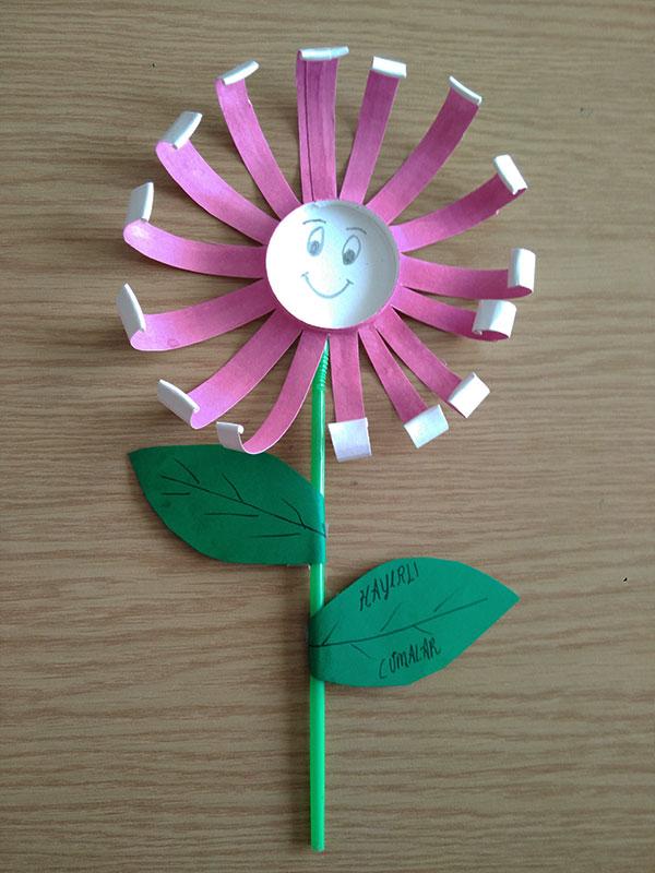 Cuma Etkinliği - kağıt Bardaktan Cuma Çiçeği Etkinliği Okul Öncesi