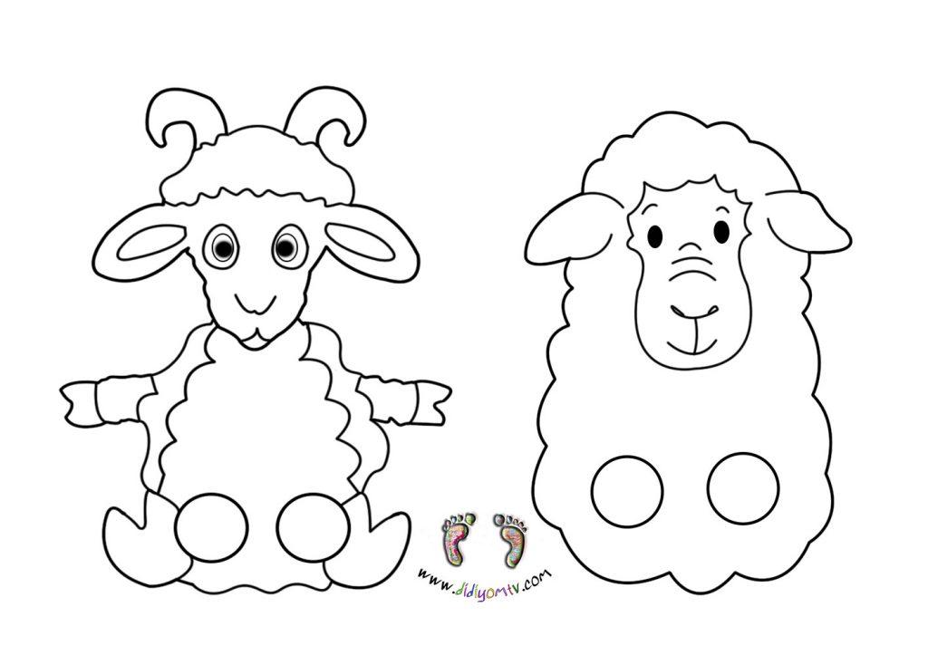 keçi-koyun-parmak-kukla-şablonu-kalıbı