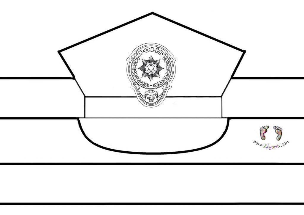 kes yapıştır polis şapkası