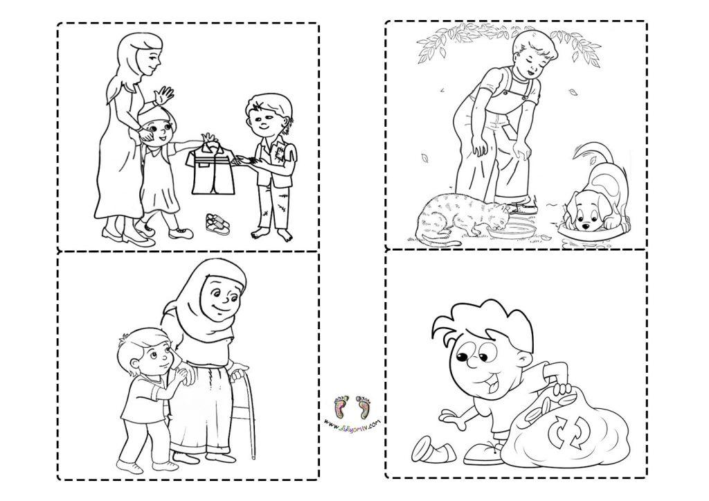 İyilik Boyama Sayfaları - İyilik Etkinliği - değerler eğitimi
