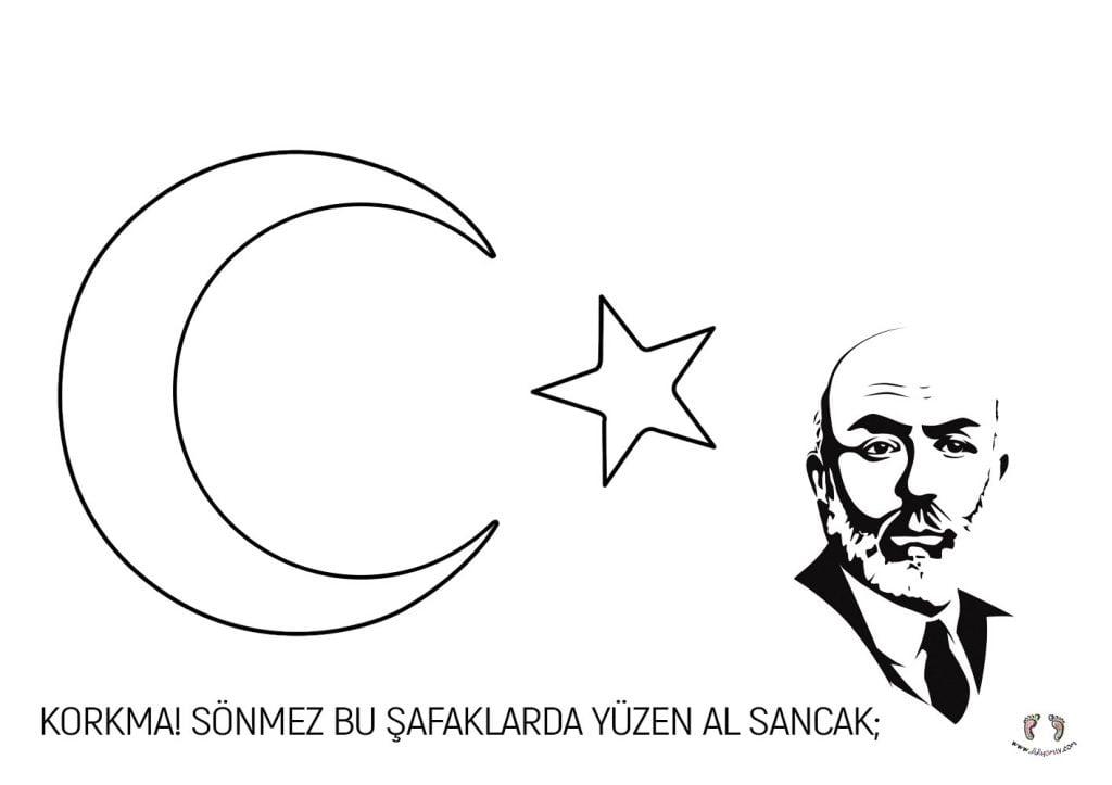 İstiklal Marşı Etkinliği -Mehmet Akif Ersoy ve Bayrak çalışması