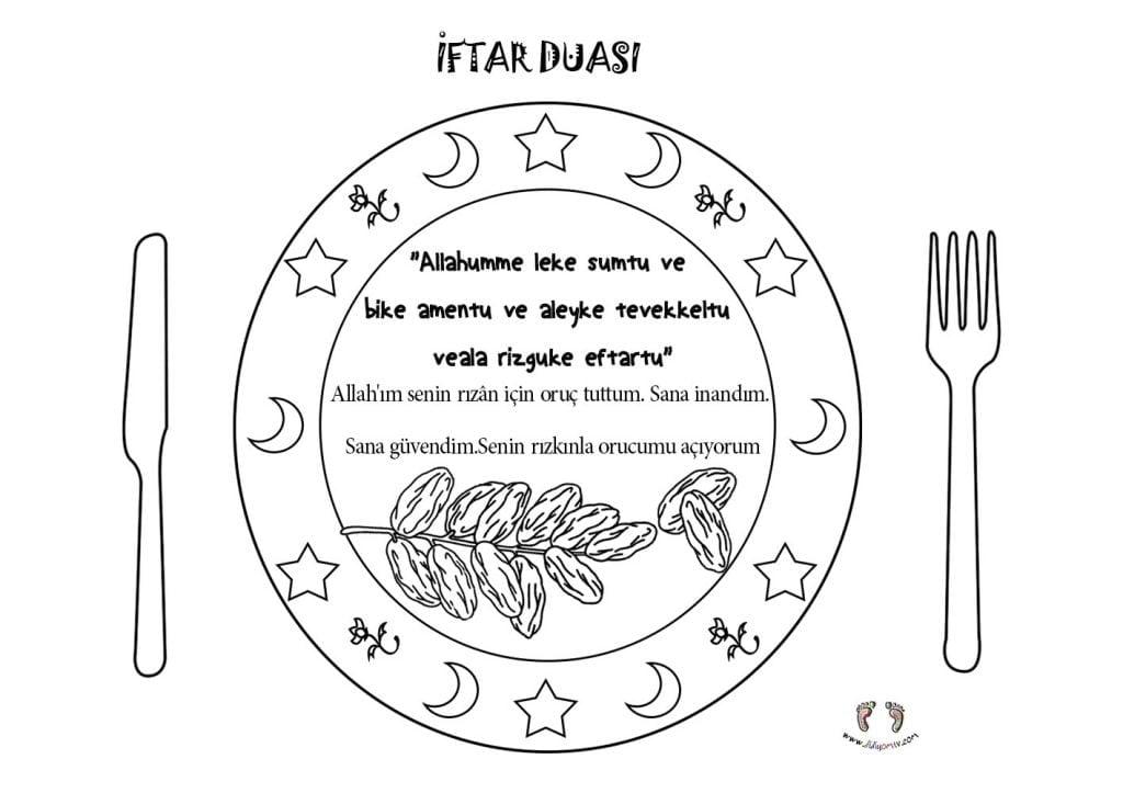 İftar Duası Etkinliği - 4 6 yaş Ramazan Etkinlikleri