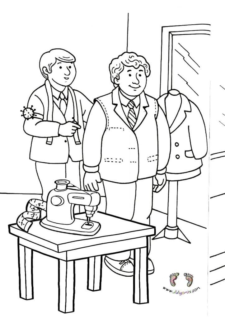 meslekler boyama okul öncesi- Meslekler Boyama Sayfaları, tezi boyama sayfası