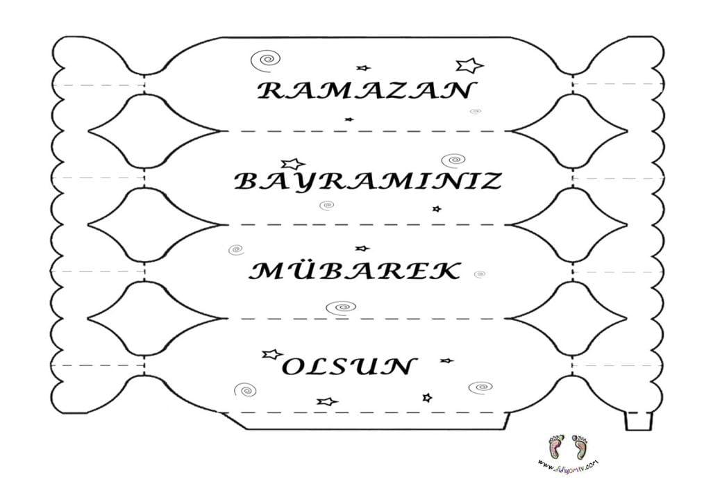 Ramazan Bayramı Etkinliği - Ramazan Bayramı Hediye Kalıbı