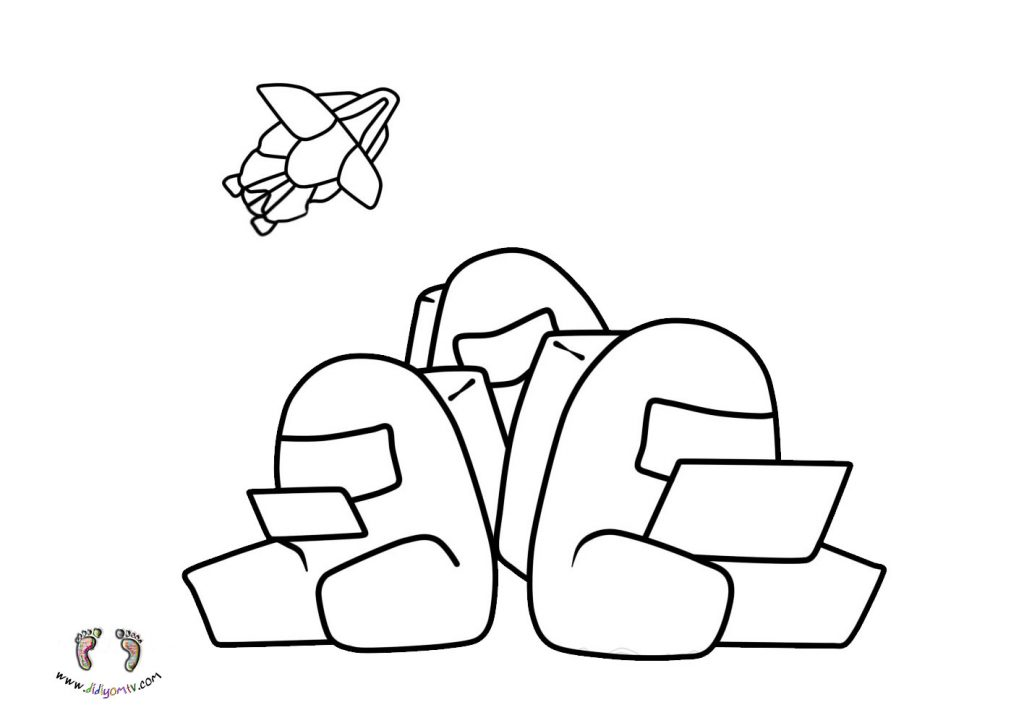 Among us Boyama - Among us Coloring Pages