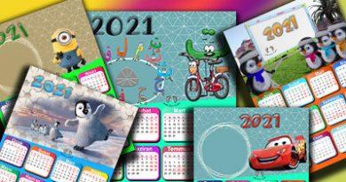 2021 Takvimi – Calendar 2021 – Okul Öncesi Takvim