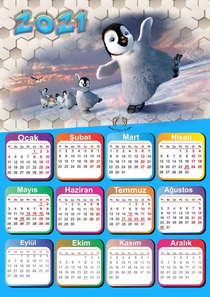 2021 Takvimi-Calendar 2021-Okul Öncesi-preschool