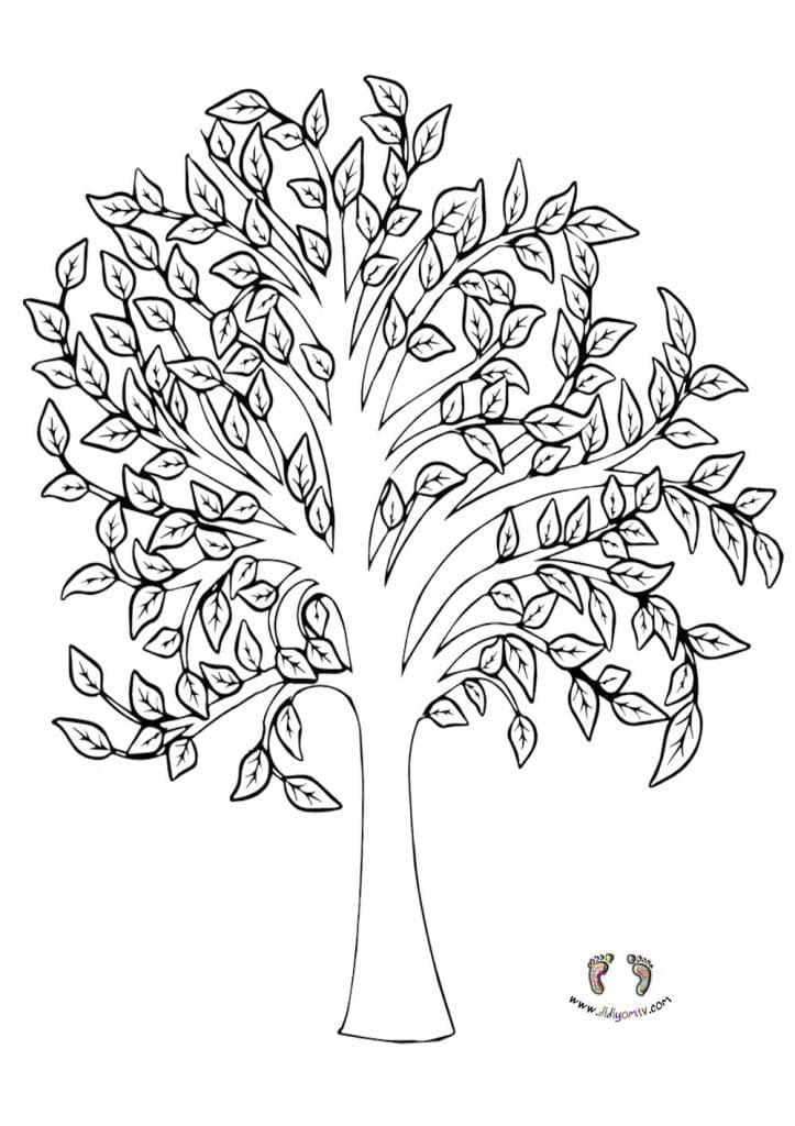 Ağaç boyama sayfası Hoşgörü-etkinliği-limon-ağacı-hikayesi-ağaç-boyama-değerler-eğitimi