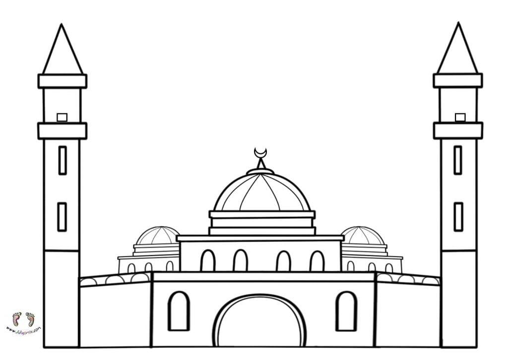 Cami Boyama Sayfası - Cami Resmi Boyamaları cami çizimi