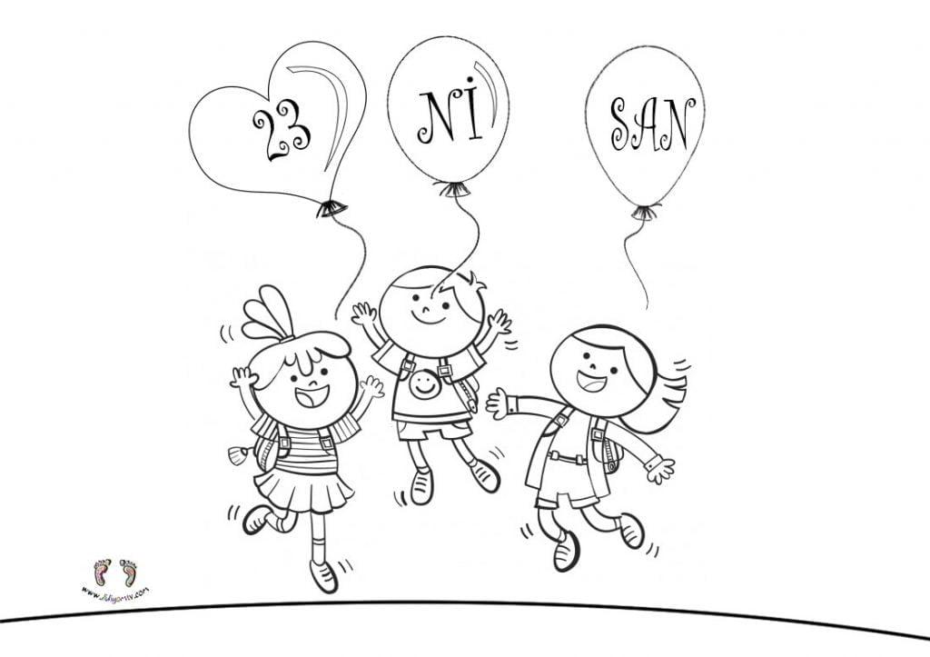 23 Nisan Boyama Sayfaları