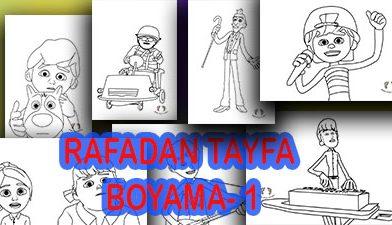 Rafadan Tayfa Boyama-Boyama sayfaları