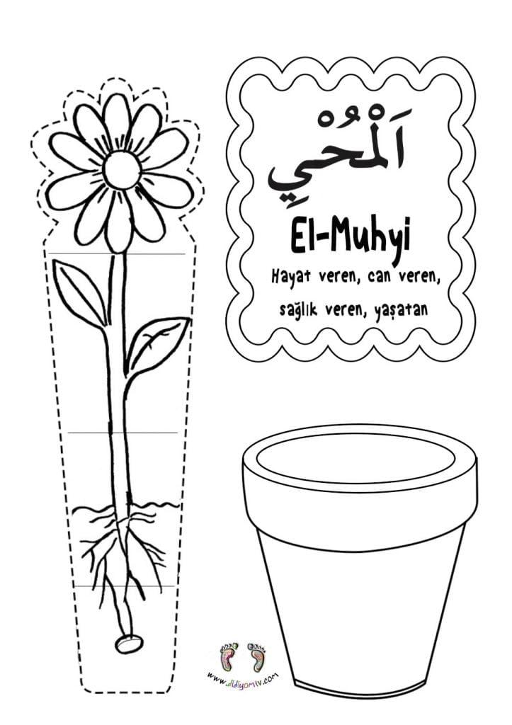 El-Muhyi Etkinliği - Esma'ul Hüsna El Muhyi (cc), Allah'ın isimleri, saksıda çiçek, bahar etkinliği