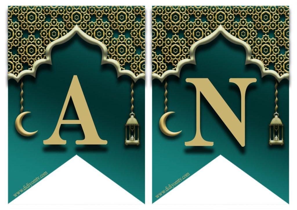 Ramazan Pano Harfleri - Ramazan Banner ,Flama, Afiş