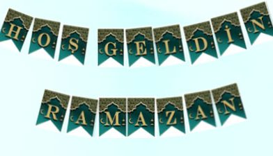 Ramazan Pano Harfleri – Ramazan Banner ,Flama, Afiş