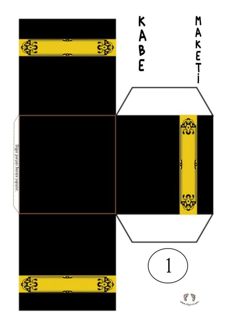 Kabe Maketi Yapımı- Kabe kalıbı - 3d Kabe Şablonu