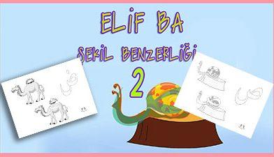 Elif ba şekil benzerliği 2 – Elif Ba Harfler – Elif Ba Cüzü